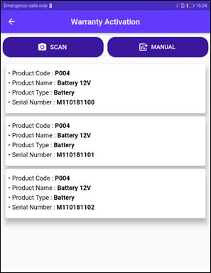 mobile warranty activation